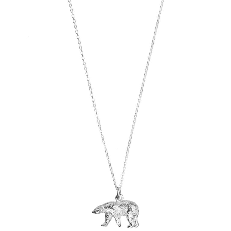 Hultquist Polar Bear Necklace Sterling Silver