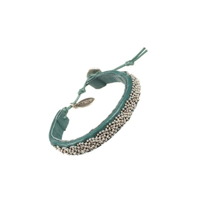 Hultquist Nordic Leather Bracelet in Teal 0126S-TE