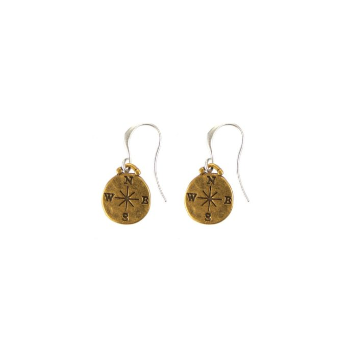 Hultquist Compass Earrings - BiColour 04419BI