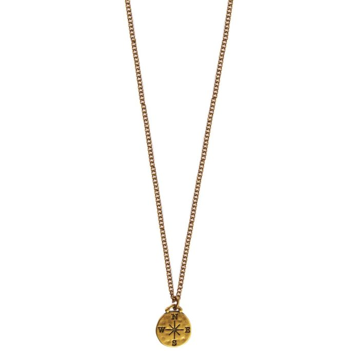 Hultquist Compass Necklace - Gold 04423G
