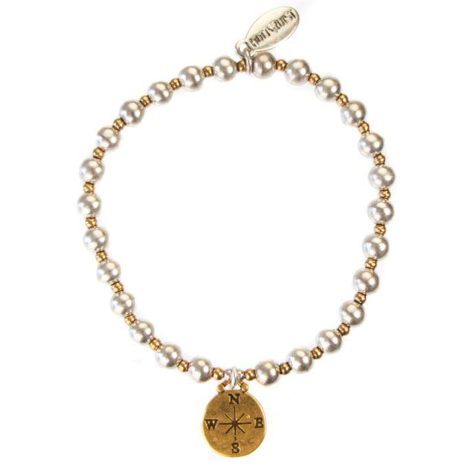 Hultquist Compass Elastic Bracelet - BiColour 04428BI