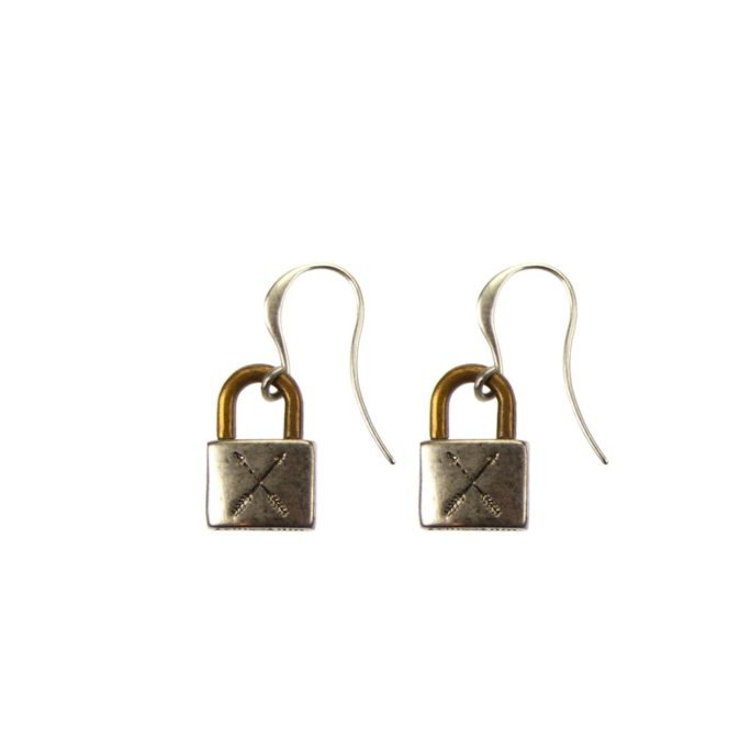 Hultquist Padlock Earrings - BiColour 04444BI