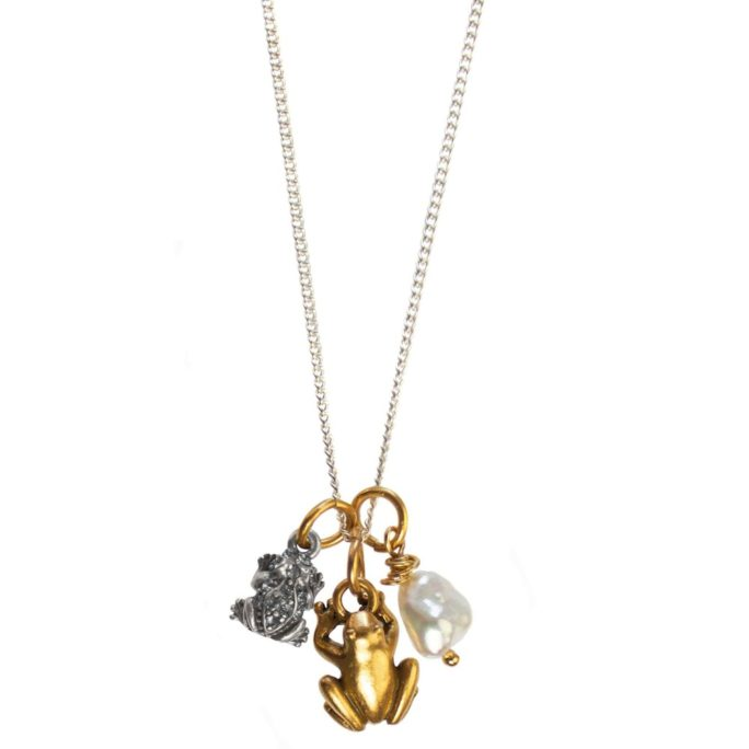 Hultquist Frog Charm Necklace - BiColour 04448BI