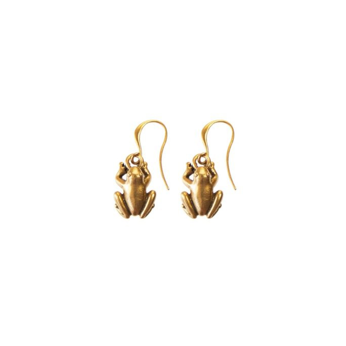 Hultquist Frog Hook Earrings - Gold 04467G