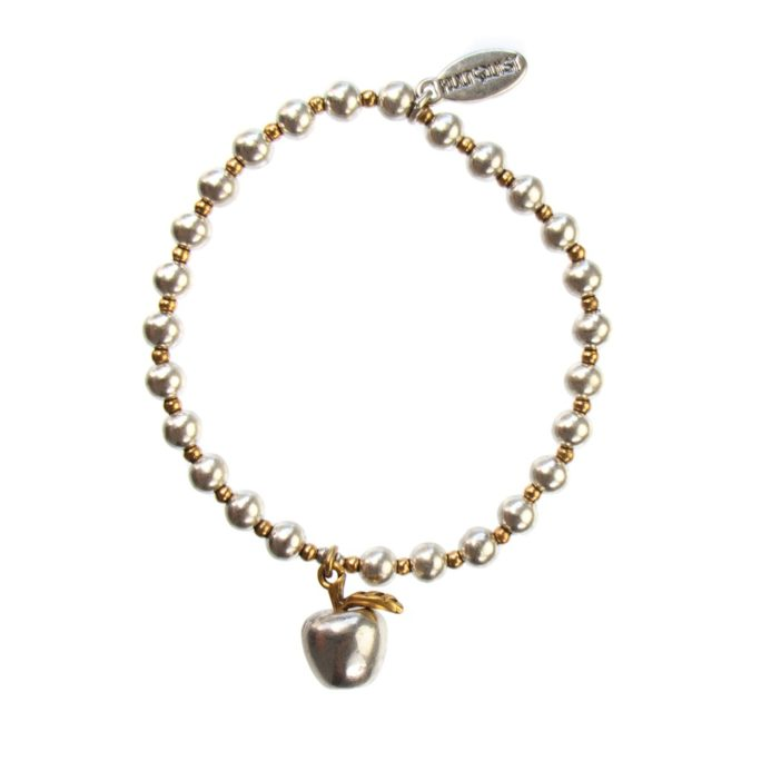 Hultquist Apple Elastic Ball Bead Bracelet BiColour 04491BI