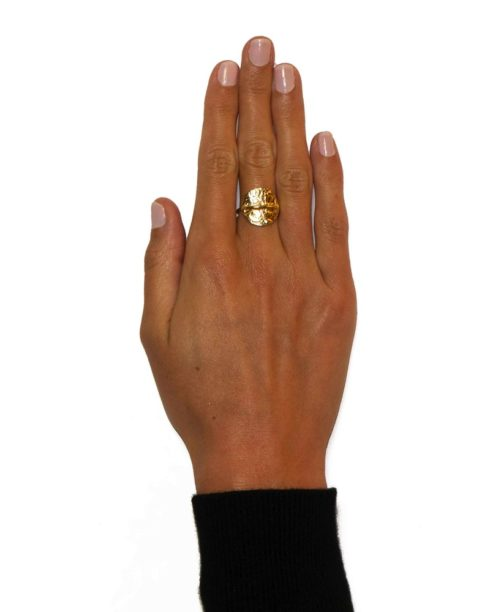 Hultquist Cora Ring Gold S04001G