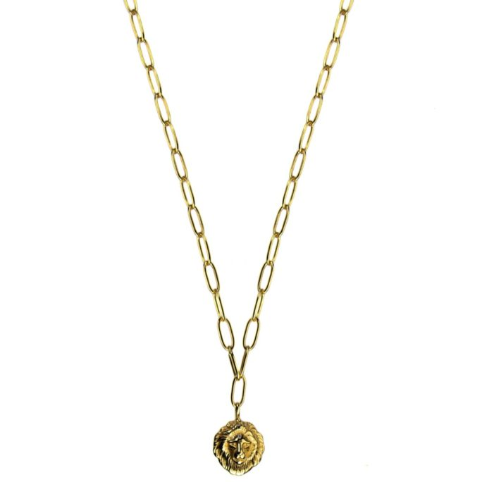 Hultquist Lions Head Necklace Gold S05004G