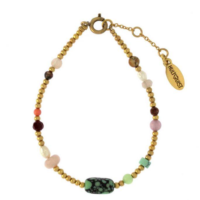 Hultquist Dagmar Bracelet Gold Turquoise 1510G-T