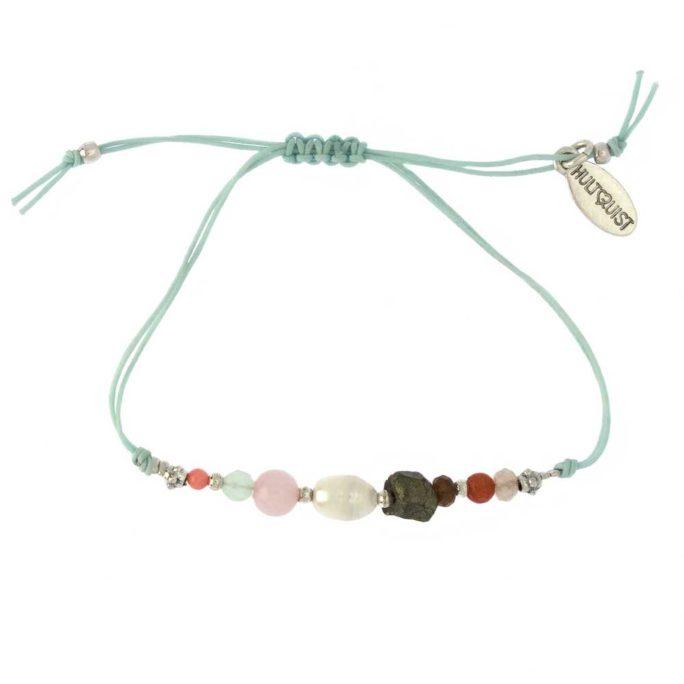 Hultquist Dorthea Bracelet Silver Aqua 1512S-MU