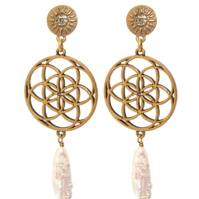 Hultquist Donya Earrings Gold 1523G