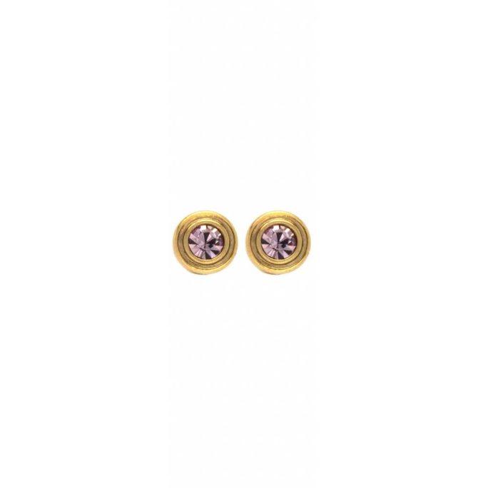 Hultquist Glitter Stud Earrings Gold 1483G-LI