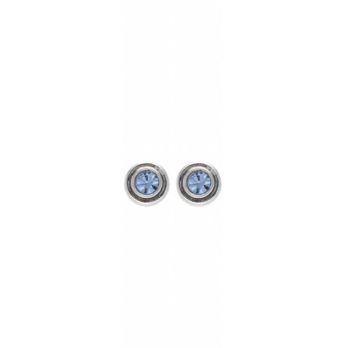 Hultquist Glitter Stud Earrings Silver 1483S-BL