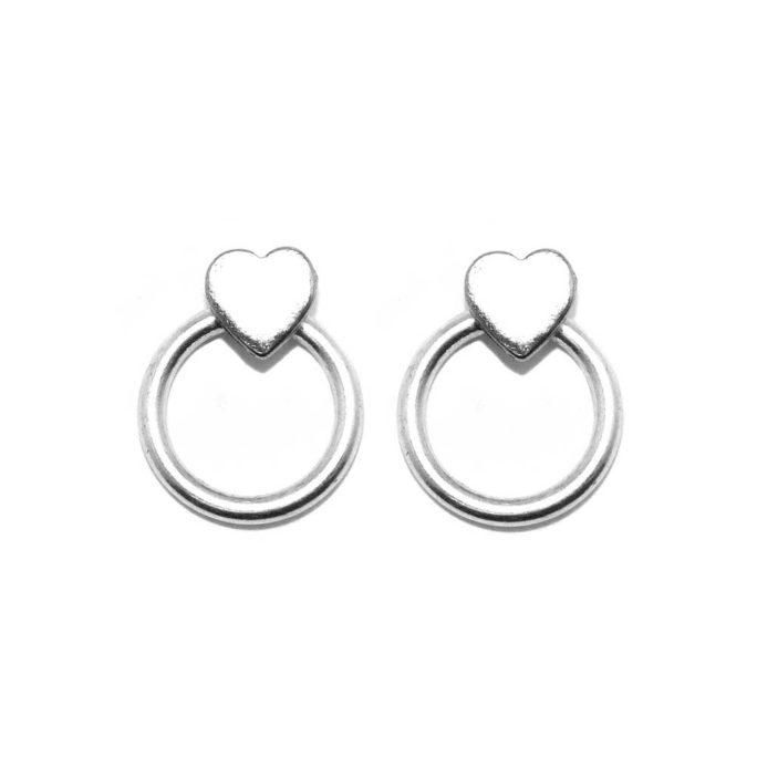 Hultquist Heart Earrings Silver 1546S