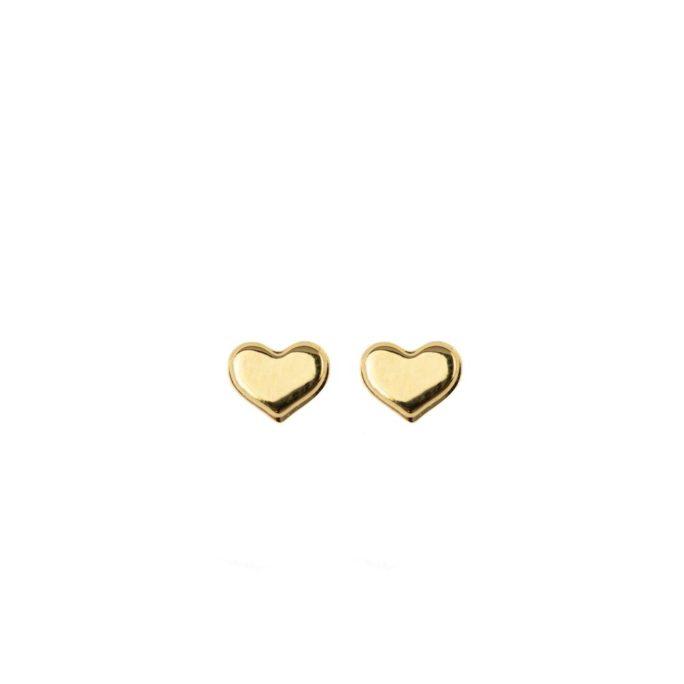 Hultquist Mini Heart Earrings Gold 61003G