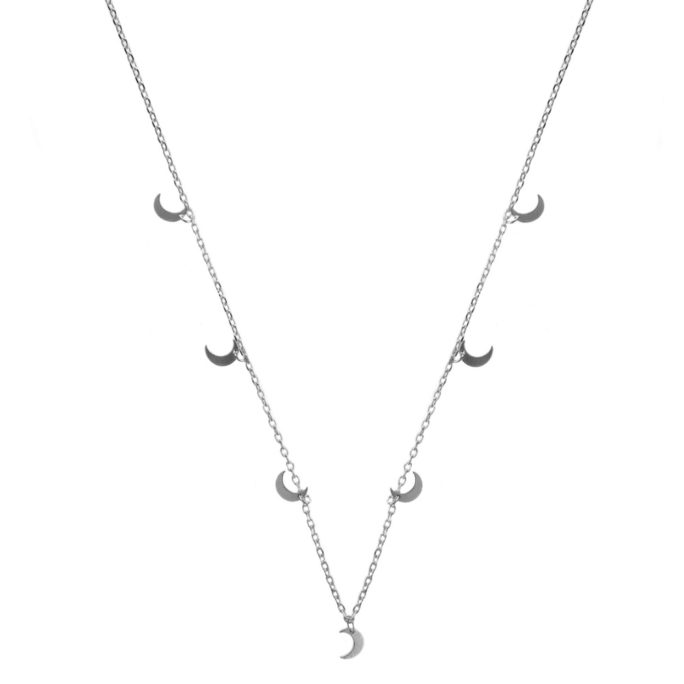 Hultquist Crescent Moon Necklace Silver 61007S