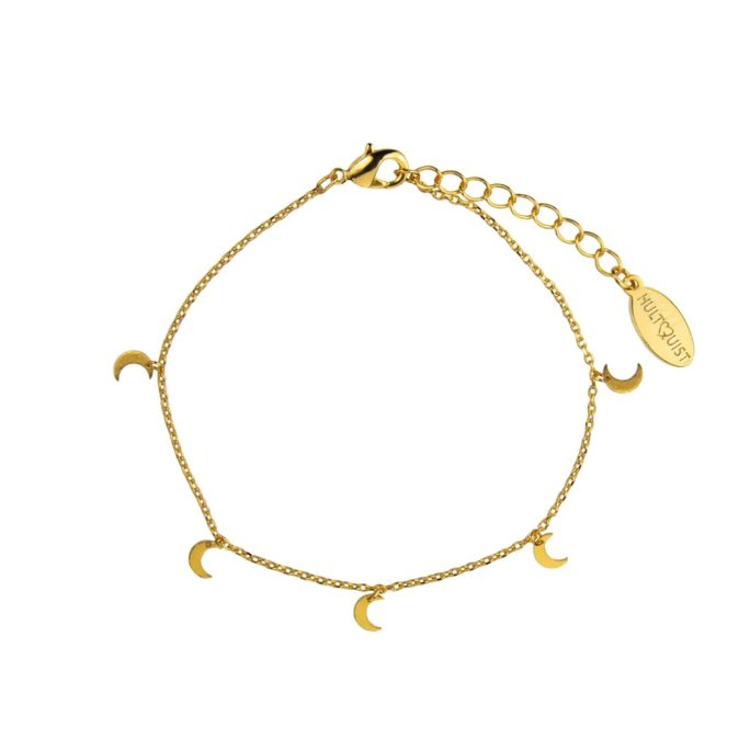 Hultquist Crescent Moon Bracelet Gold 61008G