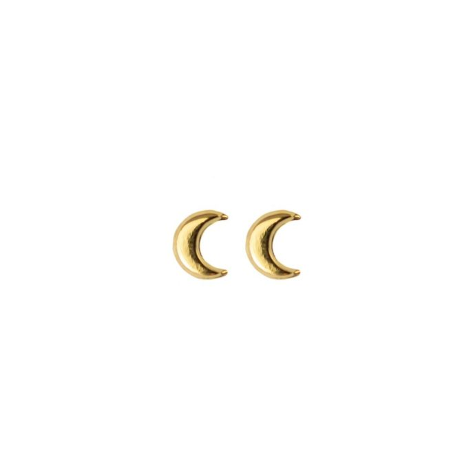 Hultquist Crescent Moon Stud Earrings Gold 61009G