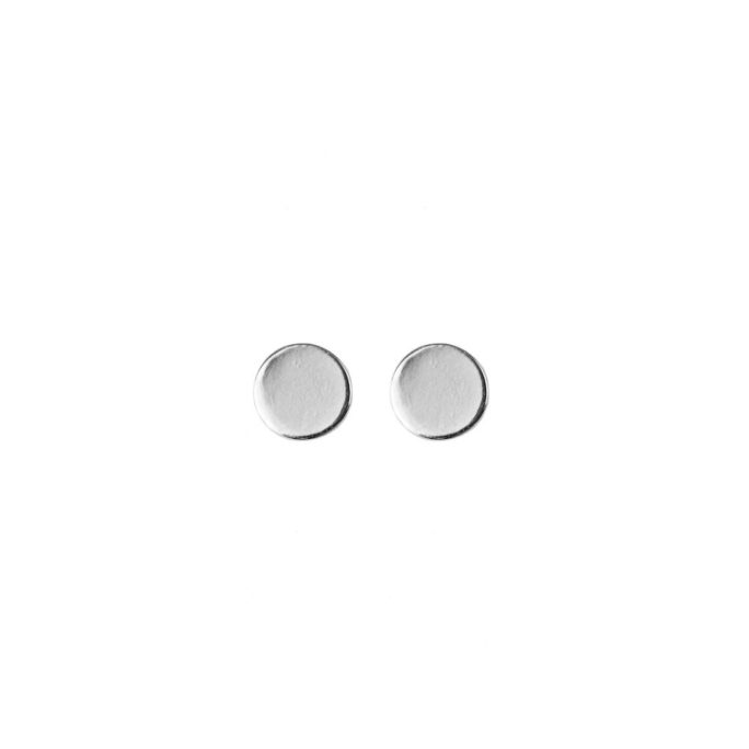 Hultquist Mini Coin Stud Earrings Silver 61015S