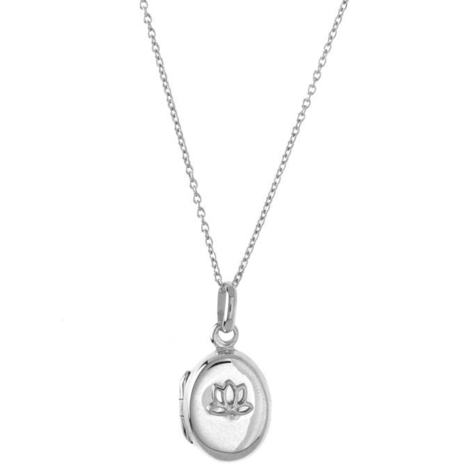 Hultquist Lotus Locket Necklace Sterling Silver S03001S