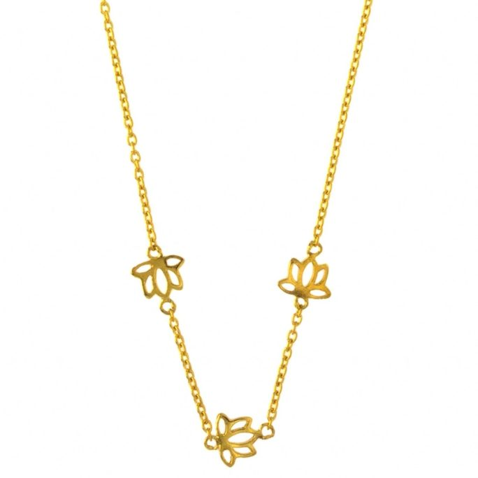 Hultquist Lotus Necklace Gold S03002G