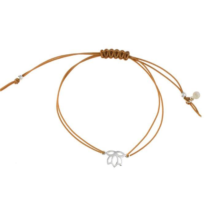 Hultquist Lotus Macrame' Bracelet Silver S03006S