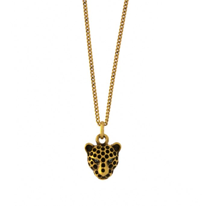 Hultquist Leopard Necklace Gold 04396G