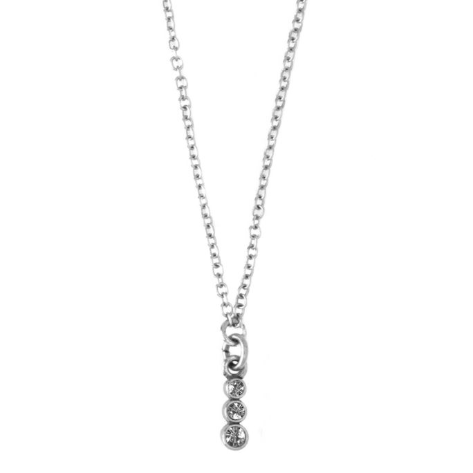 Hultquist Clear Glass Pendant Necklace 04403S-W