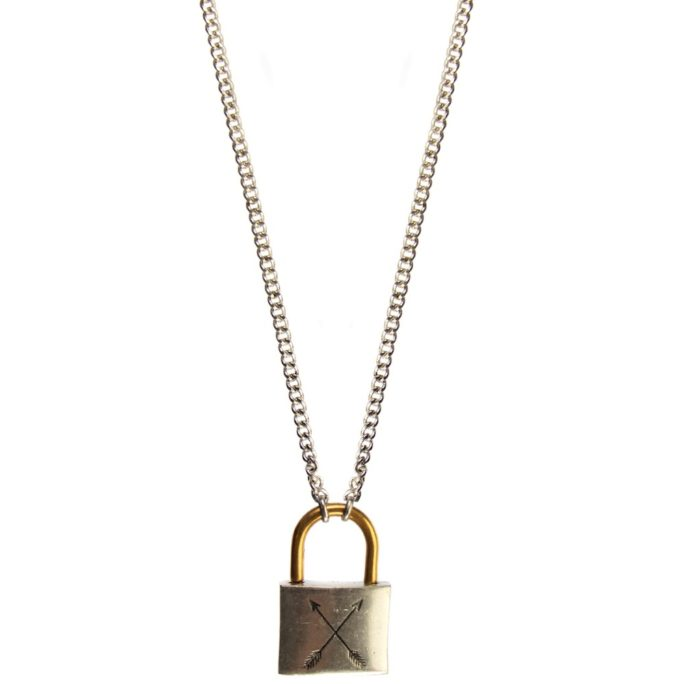 Hultquist Padlock Necklace BiColour 04449BI