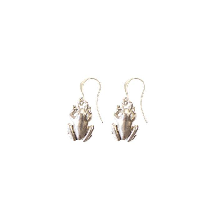 Hultquist Frog Hook Earrings Silver 04467S