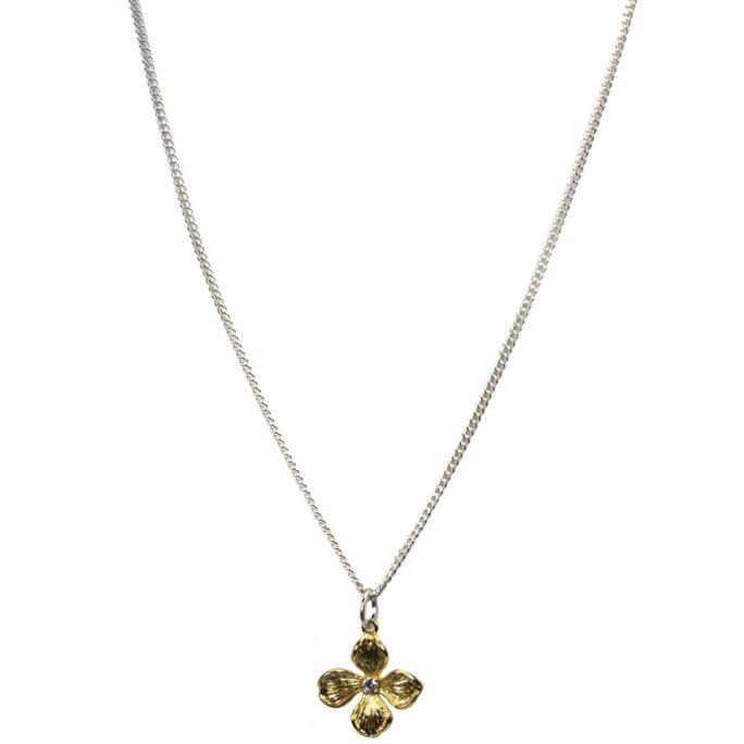 Hultquist Flower Necklace BiColour 04568BI