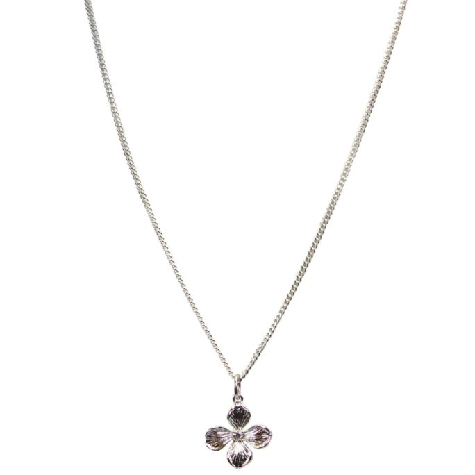 Hultquist Flower Necklace Silver 04568S