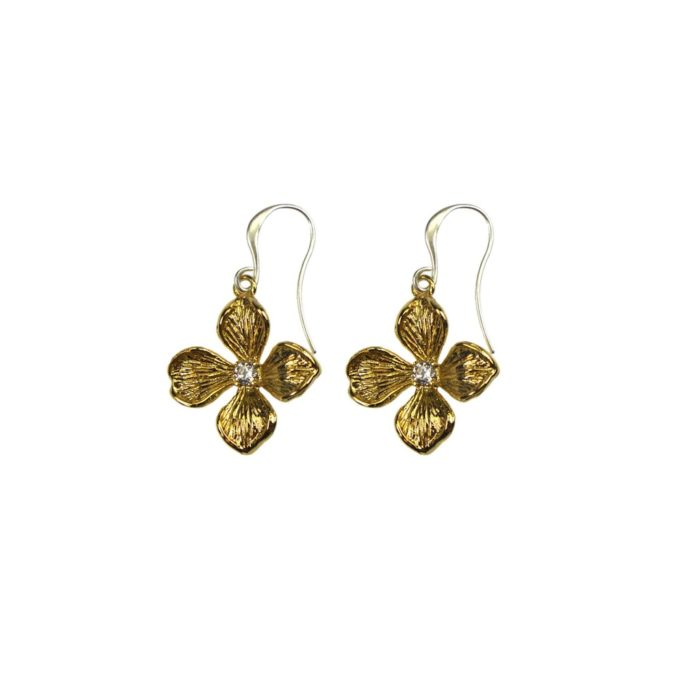 Hultquist Flower Hook Earrings BiColour 04568BI