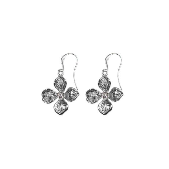 Hultquist Flower Hook Earrings Silver 04569S