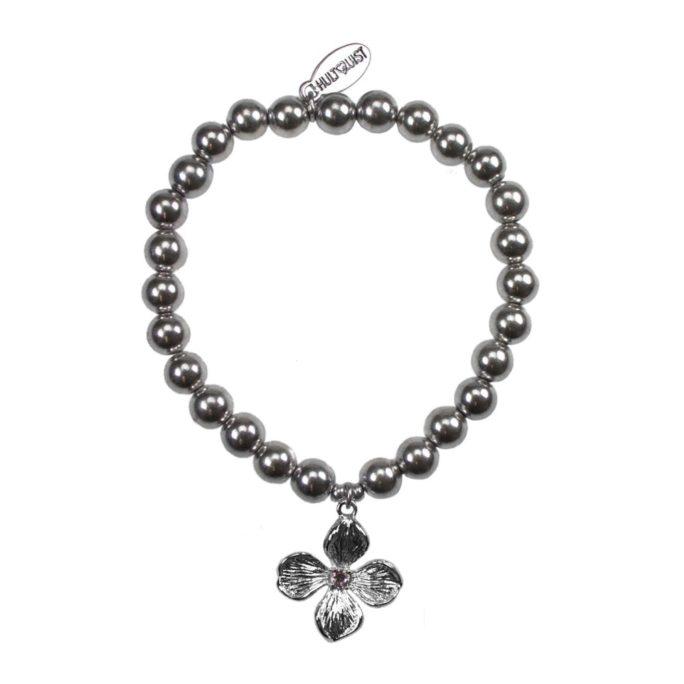 Hultquist Flower Elastic Bracelet Silver 04570S