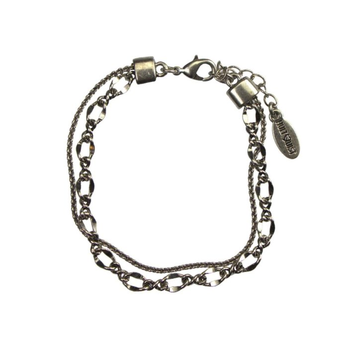 Hultquist Layered Chain Bracelet Silver 04605S