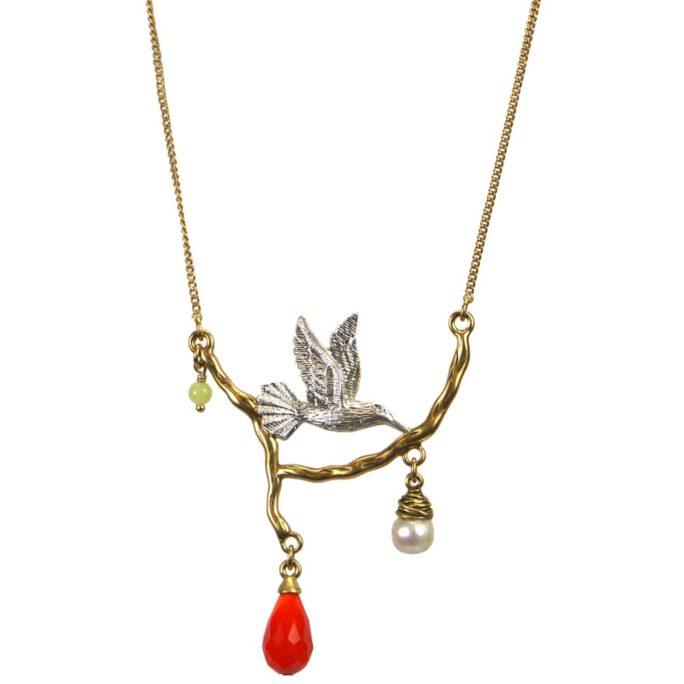 Hutlquist Hummingbird Necklace BiColour 04633BI