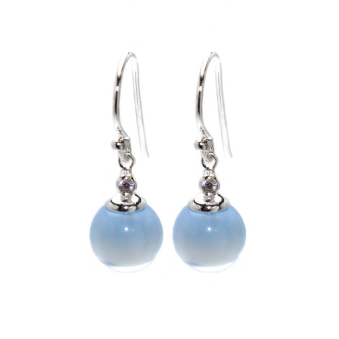 Hultquist Billa Chalcedony Stone Earrings Sterling Silver S02036S-BL