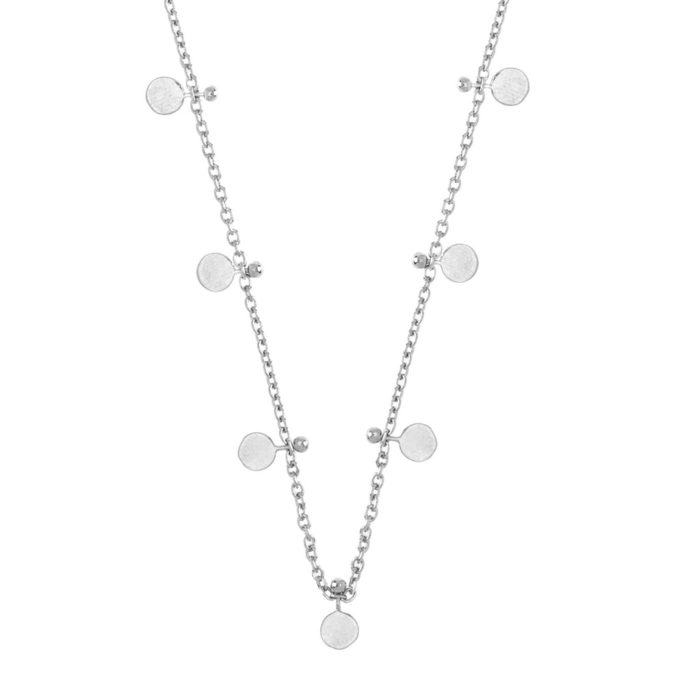 Hultquist Mini Coin Necklace Sterling Silver S02042S