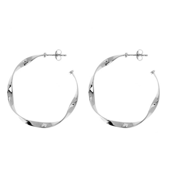 Hultquist Charlie Hoop Earrings Sterling Silver S02039S
