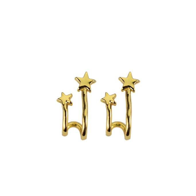 Hultquist Shooting Star Earrings Gold S05012G