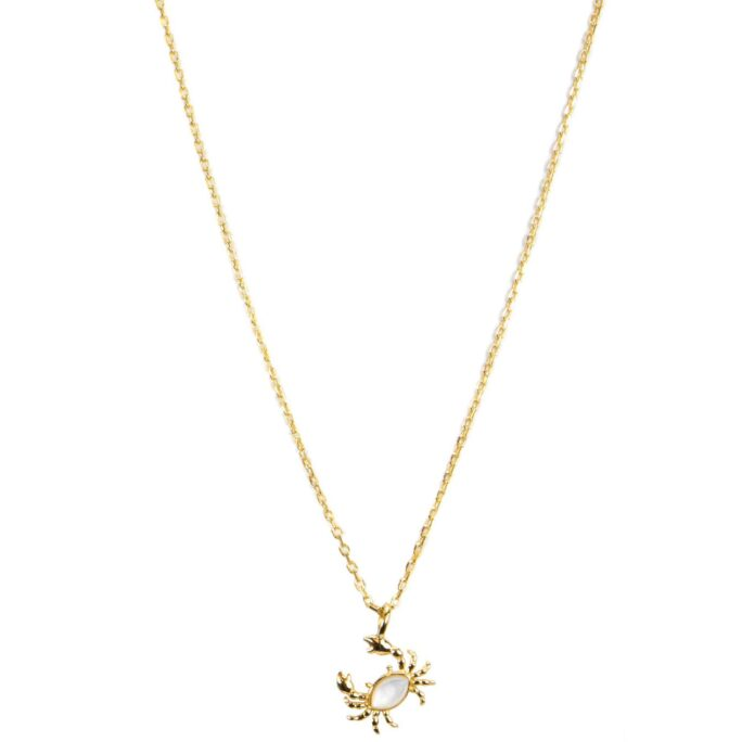 Hultquist Crab Necklace Gold S05022G