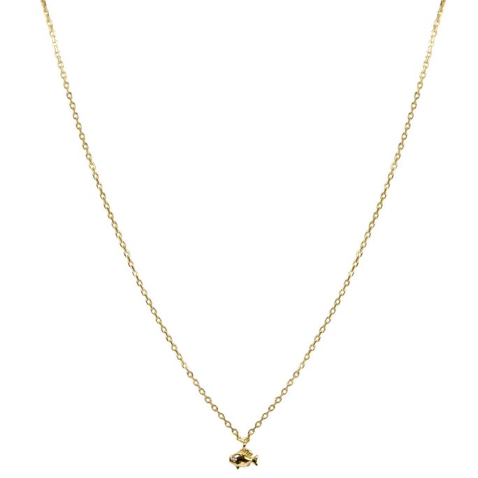 Hultquist Little Fish Necklace Gold S05042G