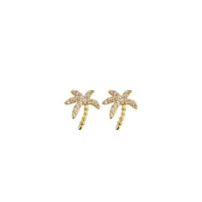 Hultquist Palm Earrings Gold S05037G