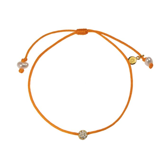 Hultquist Cubic Cluster Bracelet Orange/Gold S05047G-O