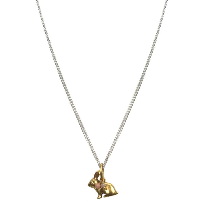Hultquist bunny long chain necklace bicolour 04562BI