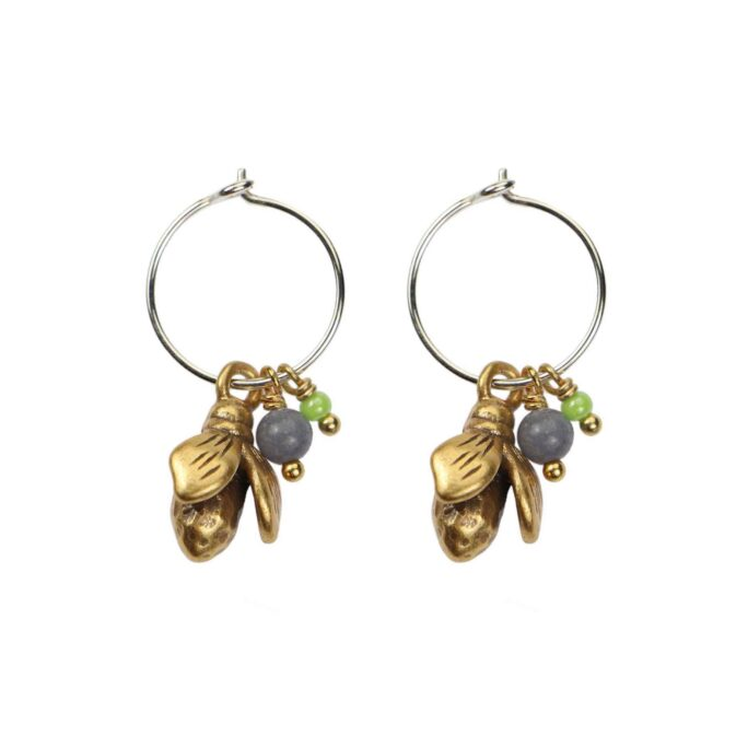 Hultquist Bumble Bee Earrings BiColour 04566-BI