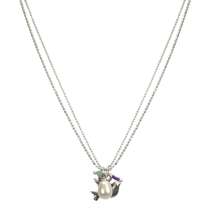 Hultquist Little Bird Layered Necklace Silver 04571-S
