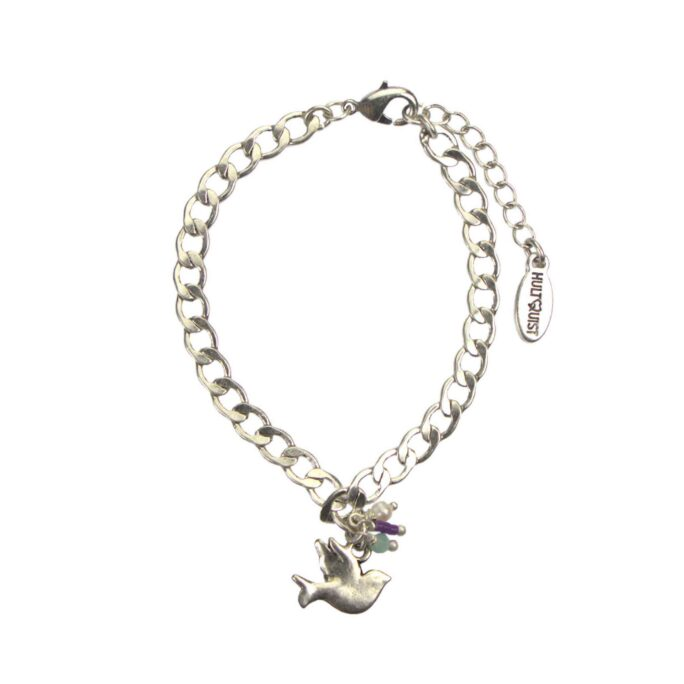 Hultquist Little Bird Charm Necklace Silver 04574-S
