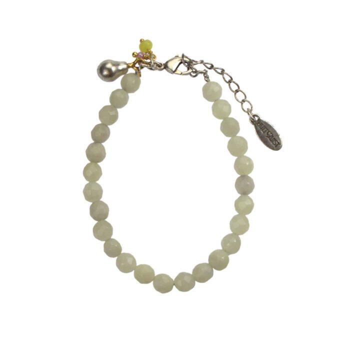 Hultquist Pear Glass Stone Bracelet BiColour 04576-BI