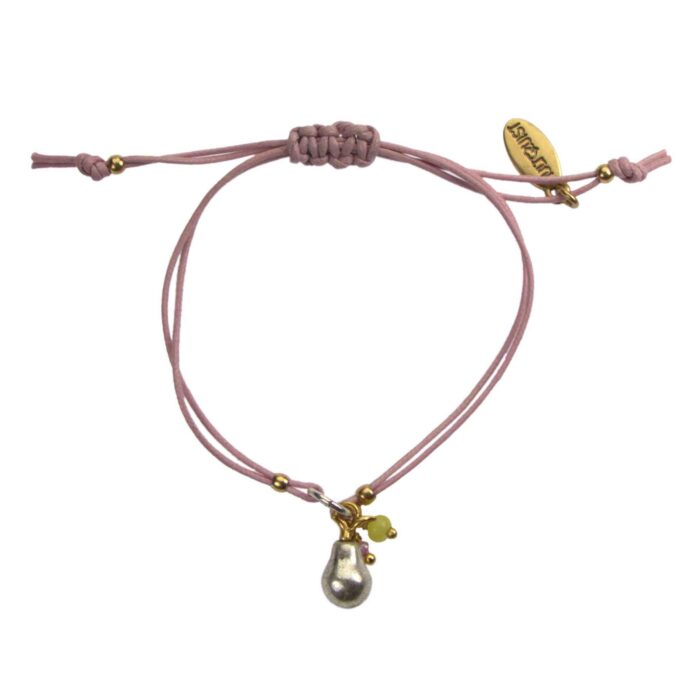 Hultquist Pear Macrame Bracelet BiColour 04578-BI